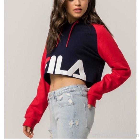 2fe6d04f FILA súper cropped hoodie